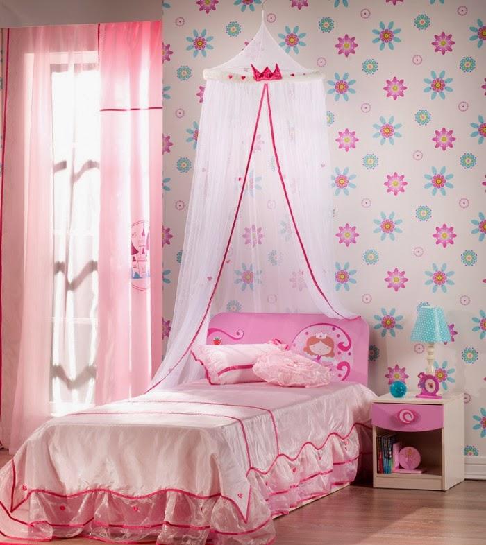 Dormitorio para ni as en color rosa ideas para decorar for Cuarto de nina rosa palido