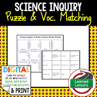 Science Inquiry, Life Science Puzzles, Life Science Digital Puzzles, Life  Science Google Classroom, Vocabulary, Test Prep, Unit Review