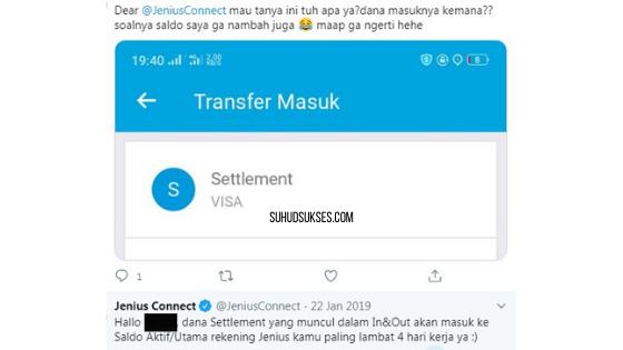 Dana Settlement yang muncul dalam In&Out akan masuk ke Saldo Aktif