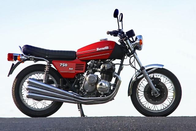 Benelli 750 Sei 1970s Italian classic motorbike