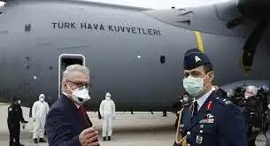 الطائرات التركية تقوم بنقل لقاح كورونا الى الدول