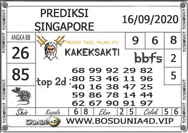 Prediksi Togel SINGAPORE DUNIA4D 16 SEPTEMBER 2020