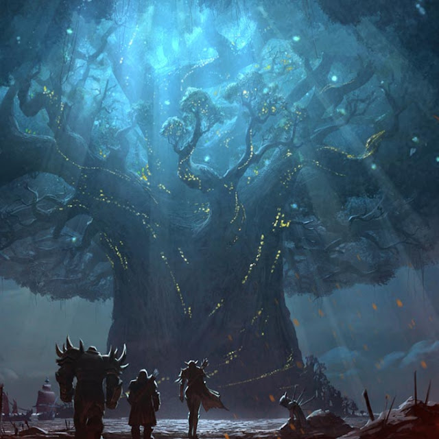 WoW BfA Teldrassil Before Wallpaper Engine