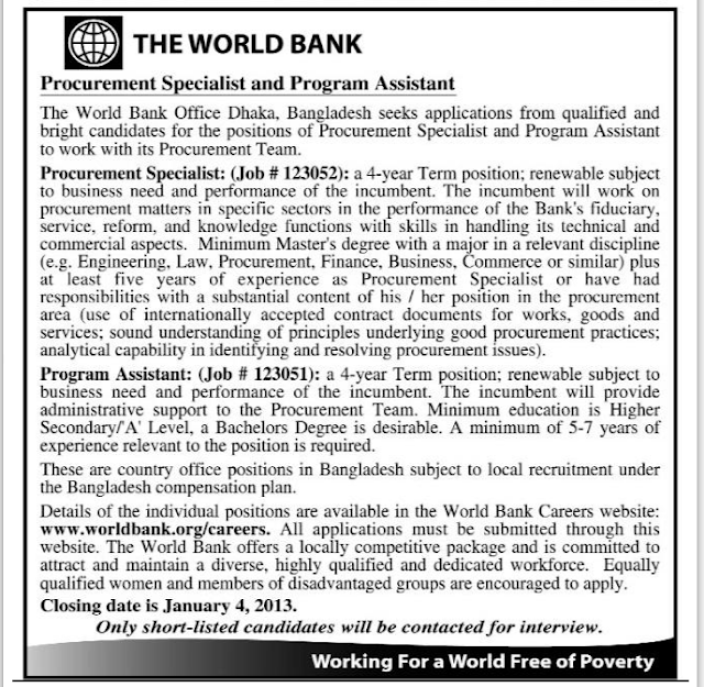 Career at The World Bank