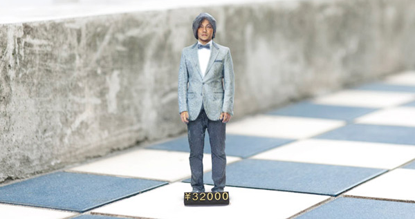 A 3D Print of yourself in a photo booth in Japan