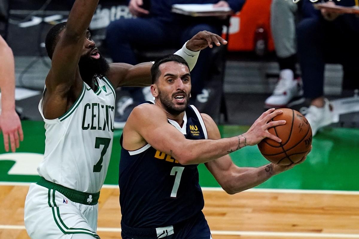 Campazzo fue titular por primera vez pero Denver perdió ante Boston por la NBA