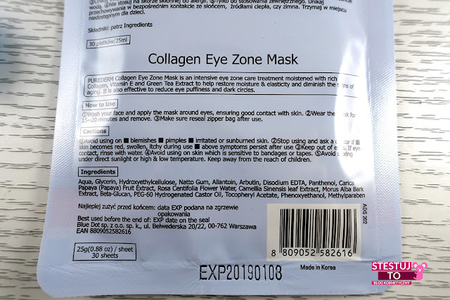 płatki purederm jak zmniejszyć opuchliznę pod oczami