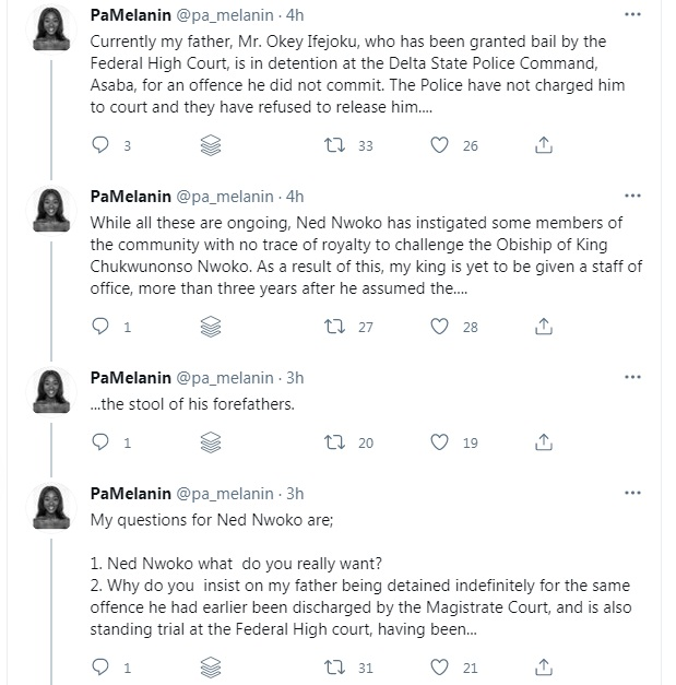Nigerian Lady In Tears As She Accuses Ned Nwoko Of Illegally Jailing Her Father For Opposing His Land-grabbing Business