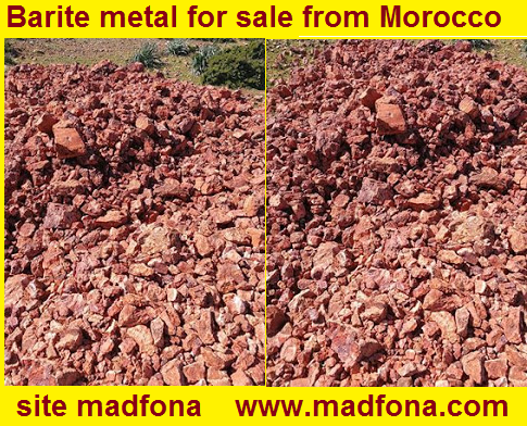 Barite metal for sale from Morocco