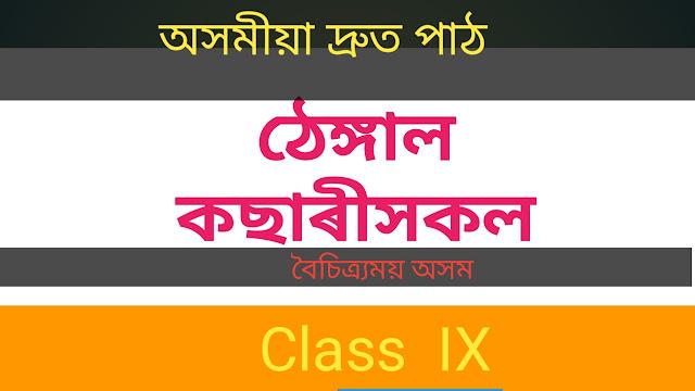Thengal Kacharihokol - Boisitramai Axom - Class IX [ ঠেঙ্গাল কছাৰীসকল ( ' সদৌ অসম ঠেঙ্গাল কছাৰী সংগঠন  )- বৈচিত্ৰ্য়ময় অসম -নৱম শ্ৰেণী ]