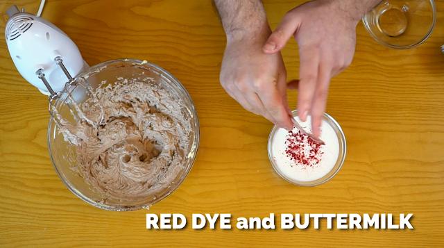 red velvet muffin batter