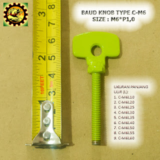 Contoh Baut Knob Plat Besi Type C-M6xP1,0