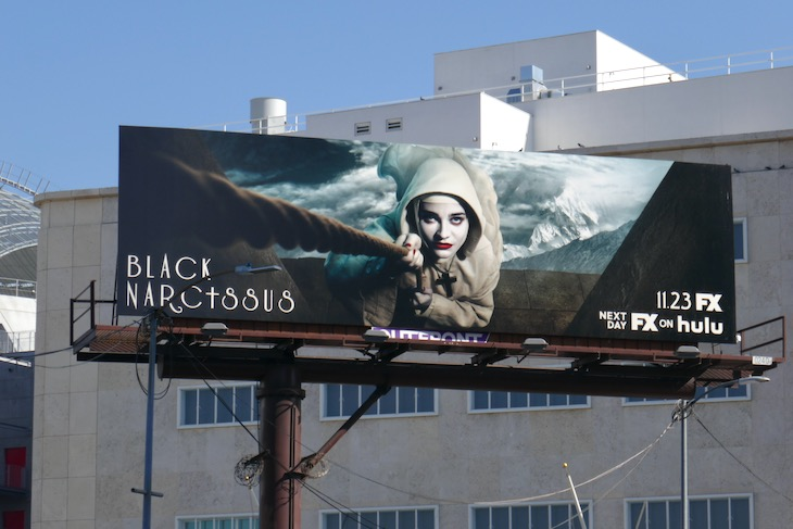 Black Narcissus series launch billboard