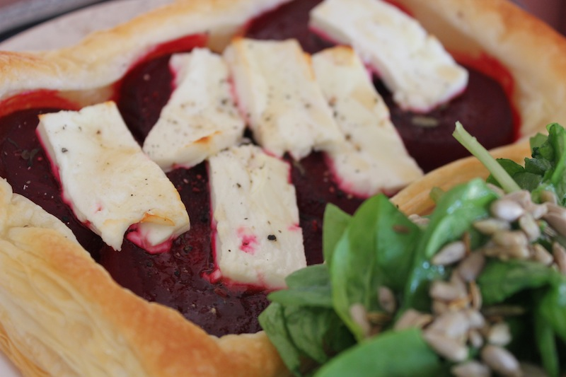 Beetroot, Thyme and Feta Tart