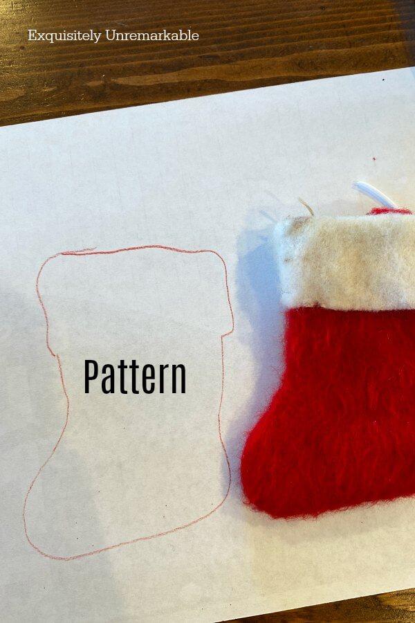 Tiny Stocking Pattern on Paper