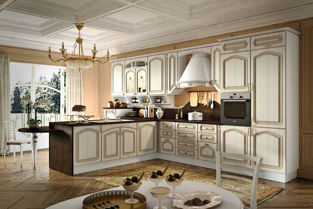10 beautiful kitchens décor featuring elegance and grandeur of classic elite
