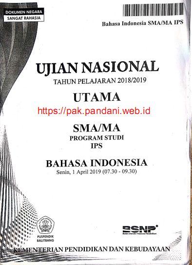 Soal Un Bahasa Indonesia Sma Dan Pembahasannya : bahasa, indonesia, pembahasannya, Bahasa, Indonesia, Tahun, Pandani