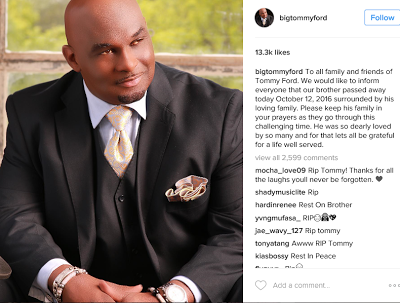 Sad! 'Martin' star Tommy Ford dies at 52 years old