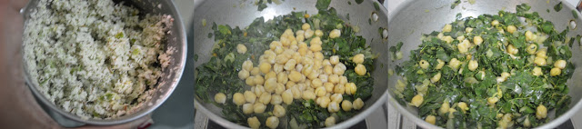 Step 3 - Drumstick Leaves Channa Stir Fry | Moringa Leaves Chickpeas Poriyal
