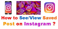 How to see Saved posts on Instagram pc?