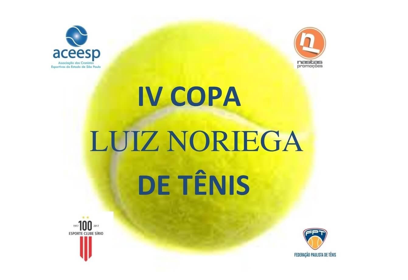 cd36846d93 A Associação dos Cronistas Esportivos do Estado de SP realiza a partir do  próximo dia 19 de janeiro a IV Copa Luiz Noriega de Tênis.