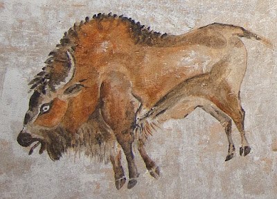 Bison painting in the Cave of Altamira in Spain