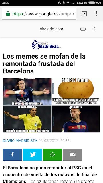Fail Okdiario memes del Barcelona - PSG