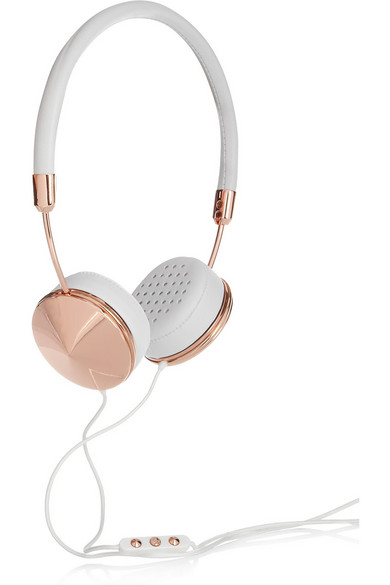 Rose gold and leather Layla headset