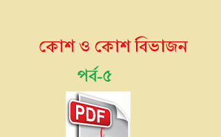 Cell Cycle And Cell Division Pdf | Bengali Pdf | কোশ ও কোশ বিভাজন