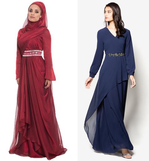 model baju jubah kain sifon