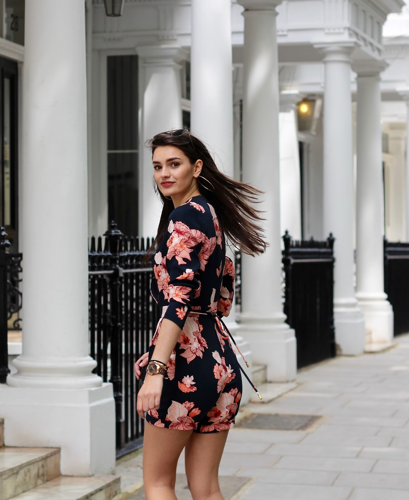 fashion blogger peexo floral spring playsuit