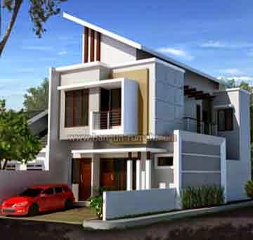 desain rumah minimalis 2 lantai untuk lebar tanah 7 meter