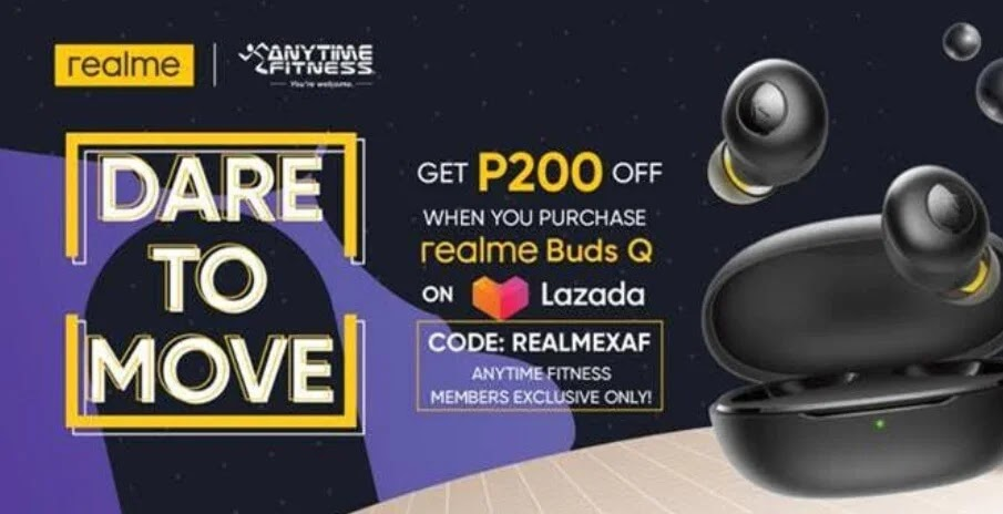 Realme Partners with Anytime Fitness; Offers Php200 Off to realme Buds Q for AF Members