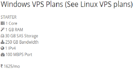 Windows,VPS,Plans