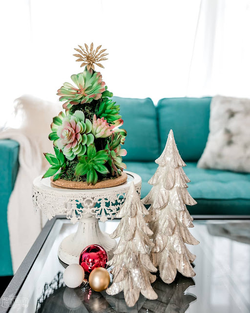 Dollar Tree Succulent Christmas Tree