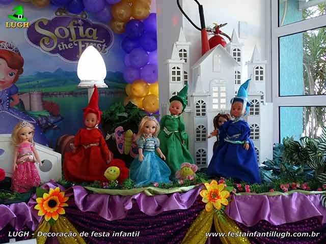 Decoração de aniversário Princesa Sofia - Festa temática infantil