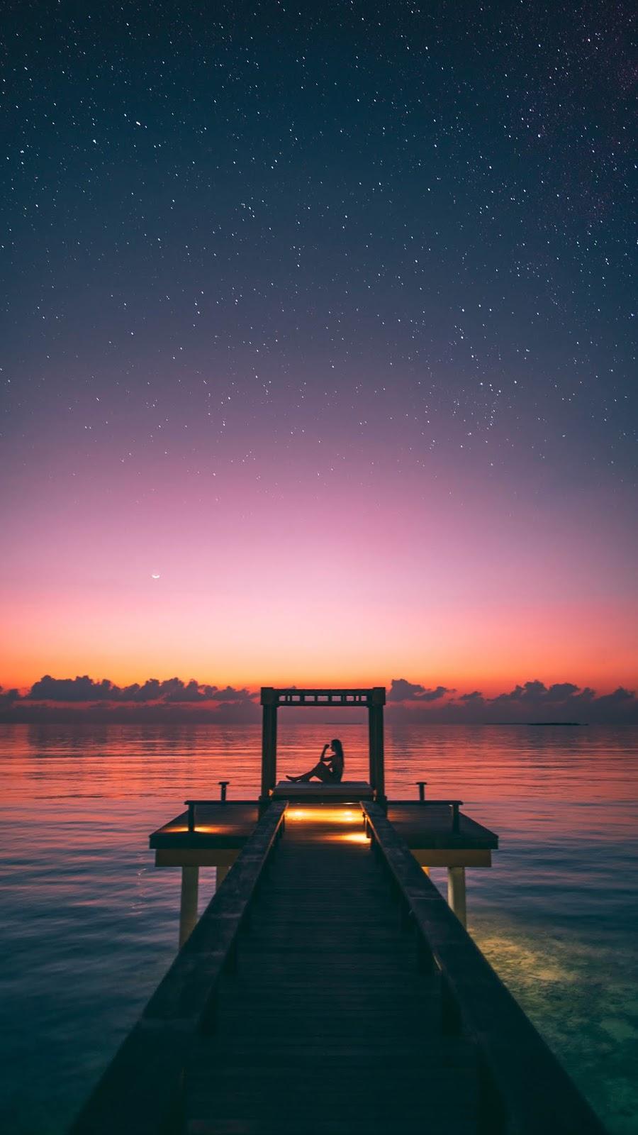 Ngắm sao giữa hồ