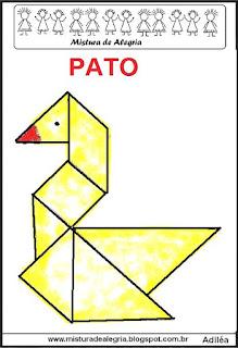 tangram desenho de pato
