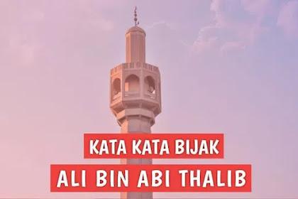 30 Kata Kata Bijak Ali bin Abi Thalib untuk Nasihat Hidup