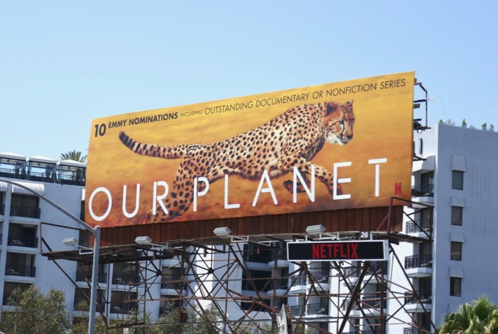 Our Planet 2019 Emmy nominee billboard