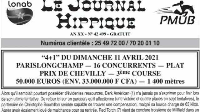 programe quinté+ pronostic dimanche 11/04/2021