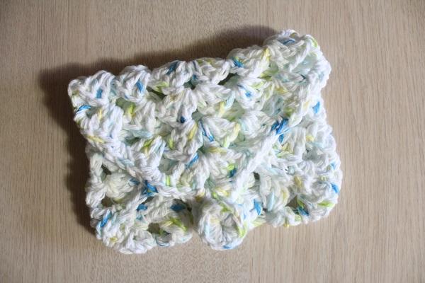crochet, granny square, soap holder, cotton