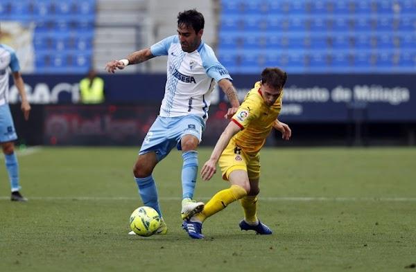 El Málaga pierde tras una expulsión y un gol de Bueno (0-1)