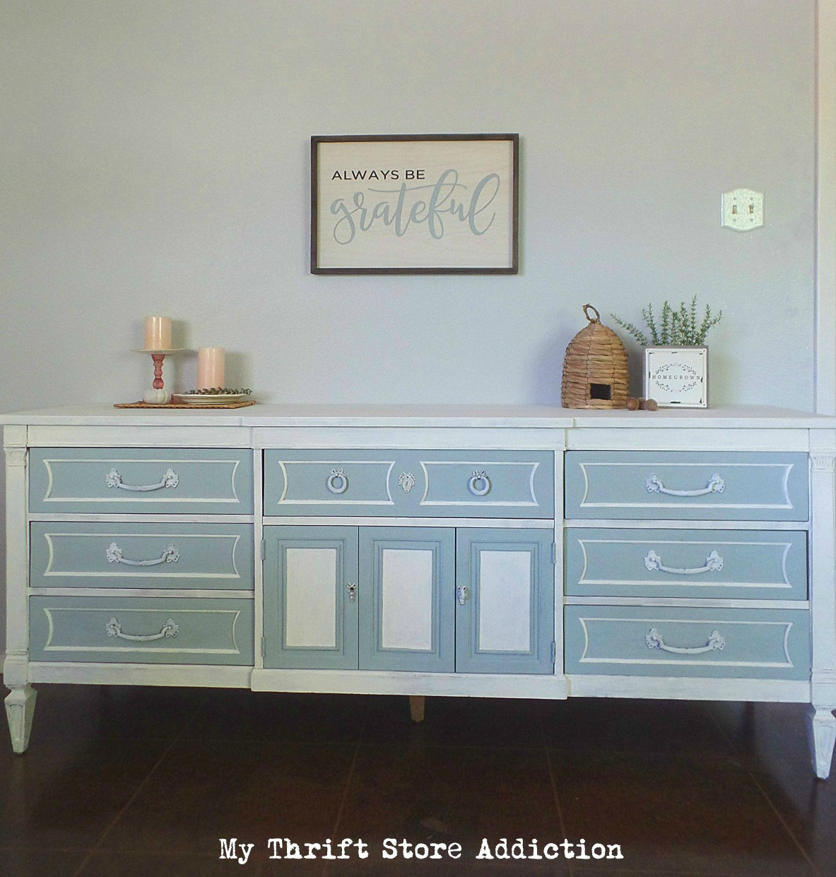 Thrift store dresser upcycle