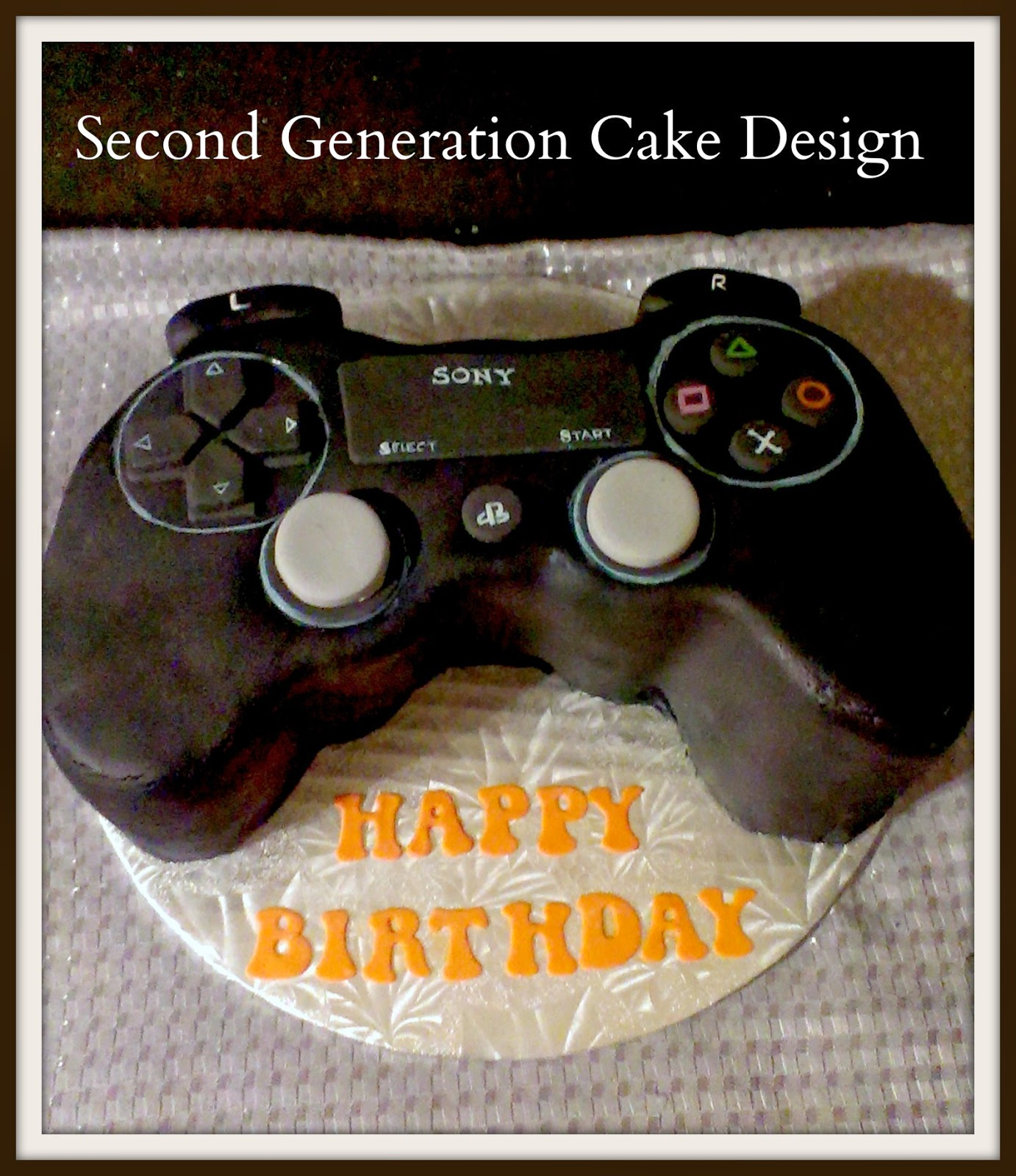 The Perfect Cake For A Gamers Birthday This Time Preferred Gaming System Was PS4 So I Created Controller In
