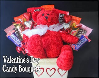 Valentine Candy Bouquets DIY