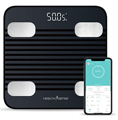 HealthSense Fitdays BS 171 Smart Bluetooth Body Weighing Scale with Mobile App, BMI and Fat Analysis with 13 compositions
