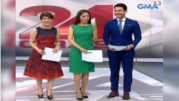 GMA News anchors wear ABS-CBN colors in 24 Oras