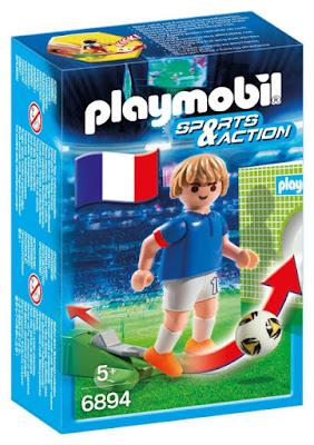 TOYS : JUGUETES - PLAYMOBIL Sports & Action  6894 Futbolista de Francia : Jugador de Futbol  Muñeco - Figura | Abril 2016 | A partir de 5 años  Comprar en Amazon España