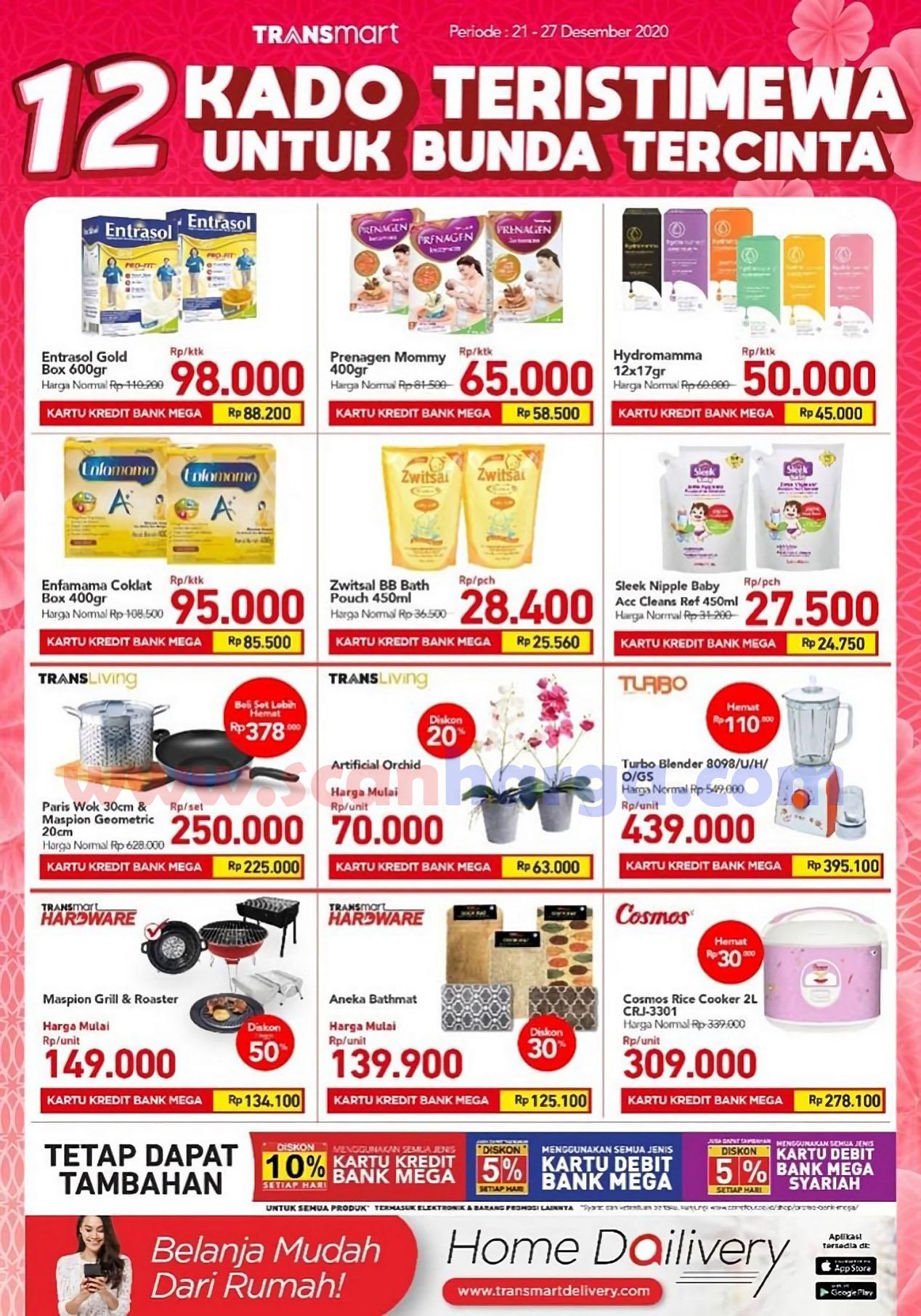 Transmart Carrefour Promo Kado Istimewa Untuk Bunda – Diskon Spesial HARI IBU